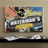Iowa Hawkeyes Collegiate Personalized Pub Sign Canvas- 16x24 - 11177-M