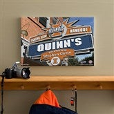 Illinois Fighting Illini Collegiate Personalized Pub Sign Canvas- 12x18 - 11178-S