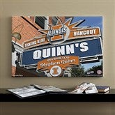 Illinois Fighting Illini Collegiate Personalized Pub Sign Canvas- 16x24 - 11178-M
