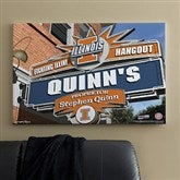 Illinois Fighting Illini Collegiate Personalized Pub Sign Canvas- 24x36 - 11178-L