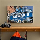 Kentucky Wildcats Collegiate Personalized Pub Sign Canvas- 12x18 - 11182-S