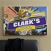LSU Tigers Collegiate Personalized Pub Sign Canvas- 24x36 - 11183-L