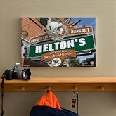 Miami Hurricanes Collegiate Personalized Pub Sign Canvas- 12x18 - 11185-S