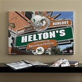 Miami Hurricanes Collegiate Personalized Pub Sign Canvas- 16x24 - 11185-M