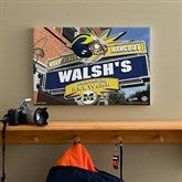 Michigan Wolverines Collegiate Personalized Pub Sign Canvas- 12x18 - 11186-S