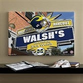 Michigan Wolverines Collegiate Personalized Pub Sign Canvas- 16x24 - 11186-M