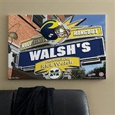 Michigan Wolverines Collegiate Personalized Pub Sign Canvas- 24x36 - 11186-L