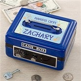 My Private Stash Personalized Cash Box  - Blue - 11192-B