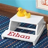 KidKraft Kid's Personalized Step & Sit Flip Stool - White - 11193D-W