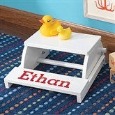 Kid's Personalized Step & Sit Flip Stool - White - 11193D-W