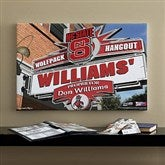 North Carolina State Wolfpack Collegiate Personalized Pub Sign Canvas- 16x24 - 11199-M
