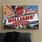 North Carolina State Wolfpack Collegiate Personalized Pub Sign Canvas- 24x36 - 11199-L