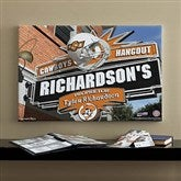 Oklahoma State Cowboys Collegiate Personalized Pub Sign Canvas- 16x24 - 11201-M