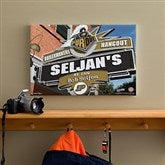 Purdue Boilermakers Collegiate Personalized Pub Sign Canvas- 12x18 - 11202-S
