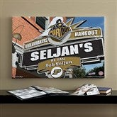 Purdue Boilermakers Collegiate Personalized Pub Sign Canvas- 16x24 - 11202-M