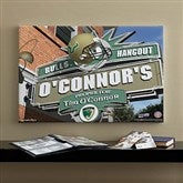 South Florida Bulls Collegiate Personalized Pub Sign Canvas- 16x24 - 11203-M