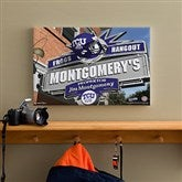 TCU Horned Frogs Collegiate Personalized Pub Sign Canvas- 12x18 - 11204-S