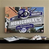 TCU Horned Frogs Collegiate Personalized Pub Sign Canvas- 16x24 - 11204-M