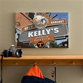 Tennessee Vols Collegiate Personalized Pub Sign Canvas- 12x18 - 11205-S