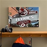 Texas A&M Aggies Collegiate Personalized Pub Sign Canvas- 12x18 - 11206-S