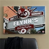 Texas A&M Aggies Collegiate Personalized Pub Sign Canvas- 24x36 - 11206-L