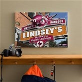 Virginia Tech Hokies Collegiate Personalized Pub Sign Canvas- 12x18 - 11208-S