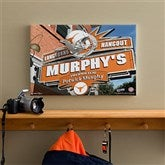 Texas Longhorns Collegiate Personalized Pub Sign Canvas- 12x18 - 11211-S