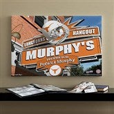 Texas Longhorns Collegiate Personalized Pub Sign Canvas- 16x24 - 11211-M