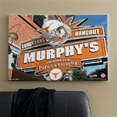 Texas Longhorns Collegiate Personalized Pub Sign Canvas- 24x36 - 11211-L