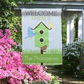 Welcome Friends Personalized Garden Flag