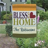 Bless This Home Personalized Garden Flag