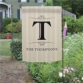 Elegant Monogram Personalized Garden Flag - 11217