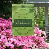 An Irish Welcome Personalized Garden Flag - 11219