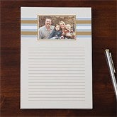 Classy Stripes Personalized One Photo Notepad - 11222-O
