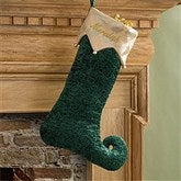 Harlequin Holiday© Embroidered Stockings- Emerald Plush - 11227-G