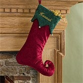 Harlequin Holiday© Embroidered Stockings- Burgundy Swirl - 11227-B