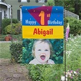 Birthday Time© Personalized Photo Garden Flag - 11230