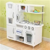 KidKraft Personalized Vintage Kitchen- White - 11234D-W