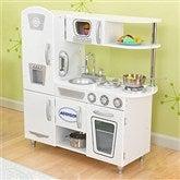 KidKraft Personalized Vintage Kitchen- White - 11234D-W