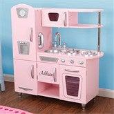 KidKraft Personalized Vintage Kitchen- Pink - 11234D-PK