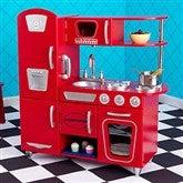 KidKraft Personalized Vintage Kitchen- Red - 11234D-R