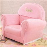 KidKraft Just My Size Personalized Upholstered Rocker-Pink Velour - 11235D-PK