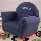 KidKraft Just My Size Personalized Upholstered Rocker-Denim - 11235D-D