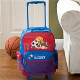 All Star Sports Embroidered Rolling Luggage - 11237