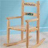 Our Chair Rocks! KidKraft Personalized 2-Slat Rocker - Natural - 11240D-N