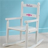 Our Chair Rocks! KidKraft Personalized 2-Slat Rocker - White - 11240D-W