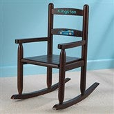 Our Chair Rocks! KidKraft Personalized 2-Slat Rocker - Espresso - 11240D-E
