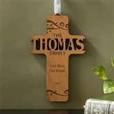 Bless Our Family Personalized Wood Cross