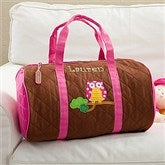 Sweet Owl Embroidered Duffel Bag - 11296