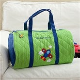 Airplane Embroidered Duffel Bag - 11298